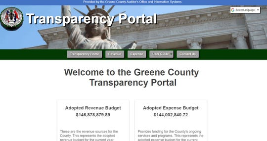 Greene County's transparency portal launched Wednesday, March 20, 2019.