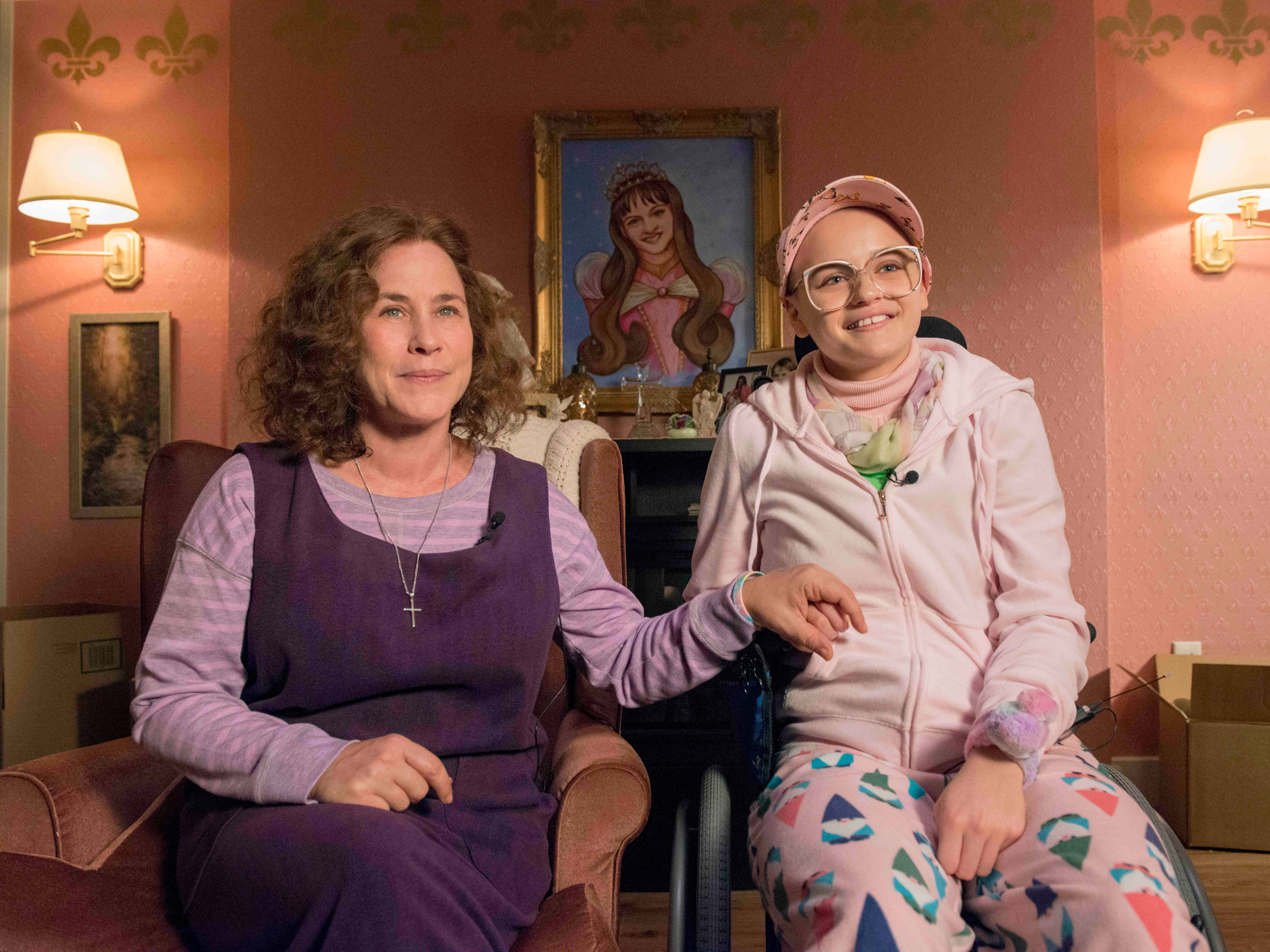 """The Act "" Dee Dee Blanchard (Patricia Arquette) and Gypsy Rose Blanchard (Joey King) shown."