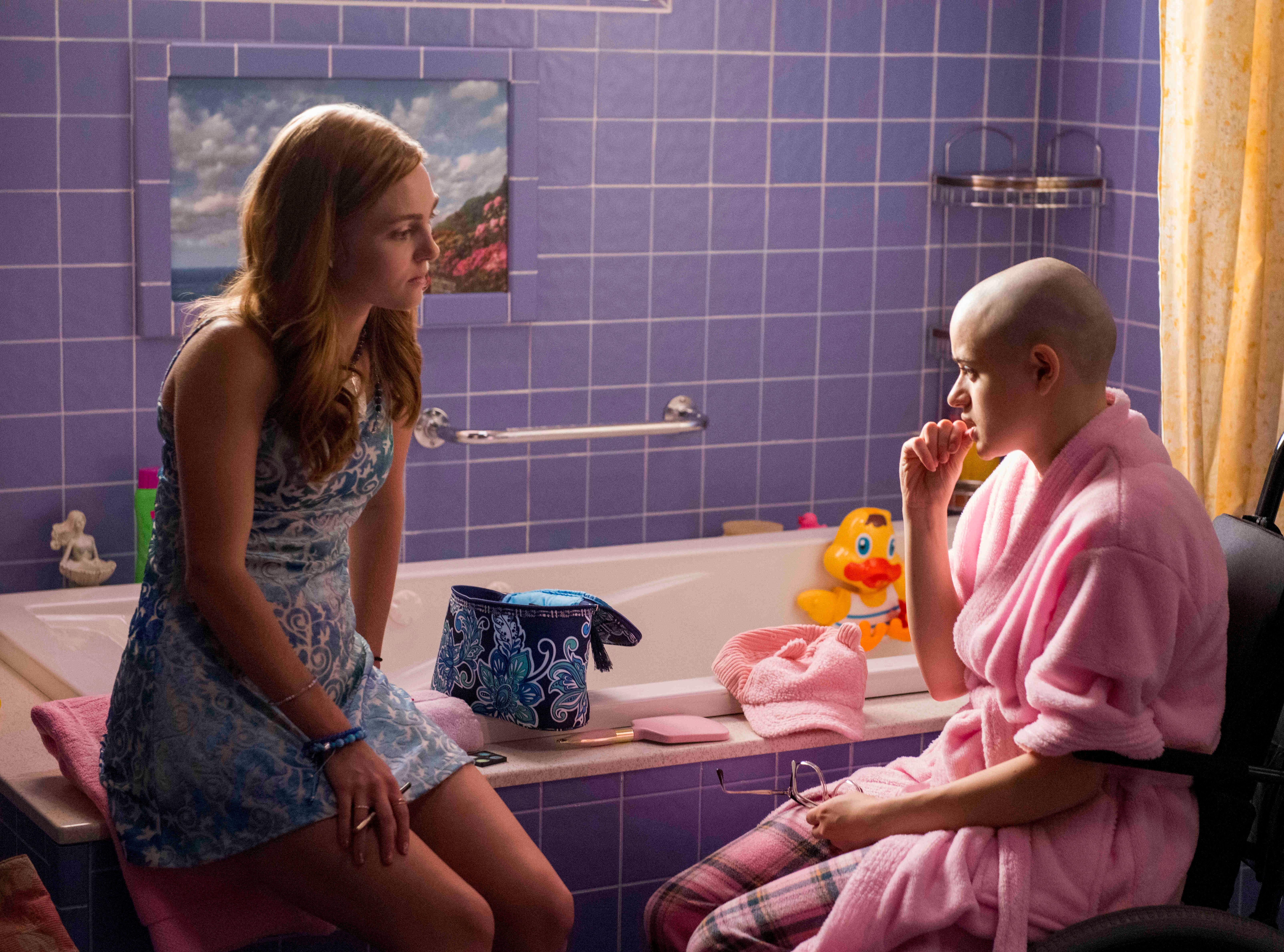 """The Act -- Episode 101"" --  Lacey (AnnaSophia Robb) and Gypsy Rose Blanchard (Joey King) shown."