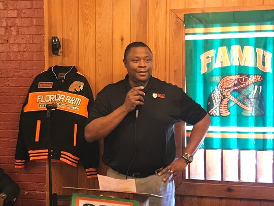 FAMU associate athletics director spoke at the 220 Quarterback Club on Wednesday, March 20. He discussed the early plans of the Investing in Champions campaign.