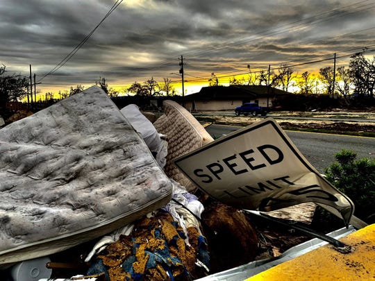 Photo taken in Panama City March 15, nearly six months after Michael struck