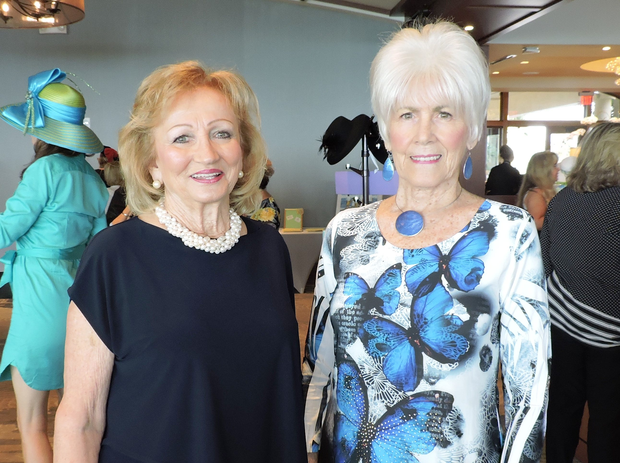 Toni MacDonald, left, and Rita Nelson at the 28th annual Jo Covelli Luncheon to benefit Hibiscus Children's Center.