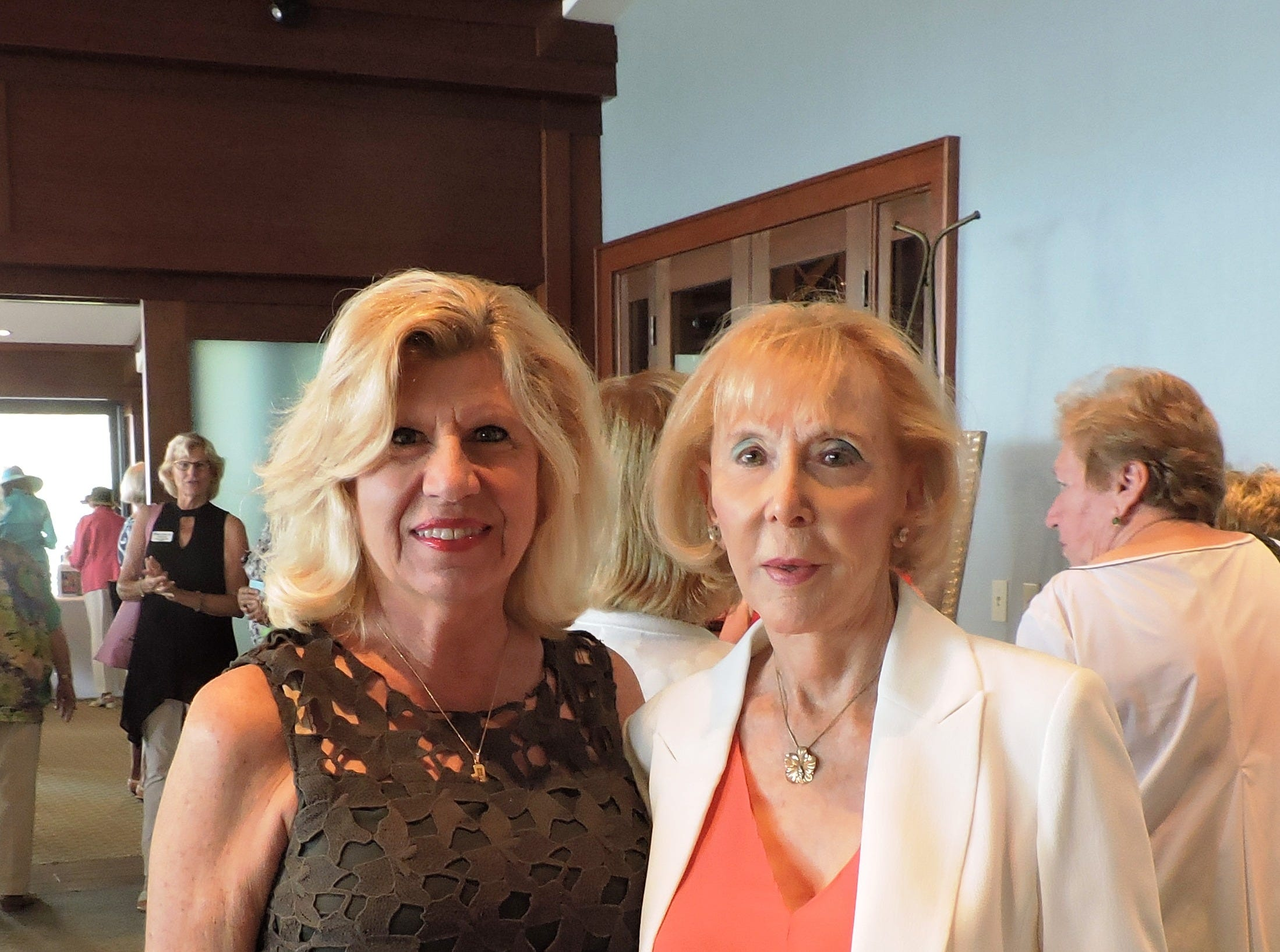 Doris Clements, left, and Phyllis Cohen  at the 28th annual Jo Covelli Luncheon to benefit Hibiscus Children's Center.