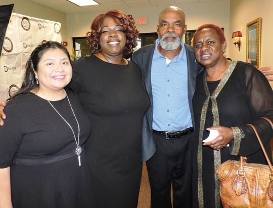 Janet Hernandez, left, Pioneer Award winner Jackie Clarke, Sylvester Clarke and Mary Williams at the 2019 Freedom Fund Banquet.