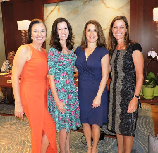 Heidi Monsour, left, Shannon Mann, Andrea Von Aldenbruck and Pam Dallas  at the 28th annual Jo Covelli Luncheon to benefit Hibiscus Children's Center.