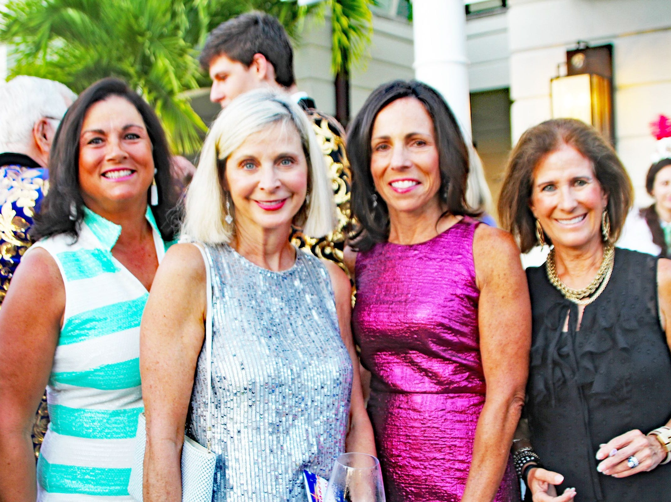 Geri Altieri, left, Joanne Limoges, Joan Marra and Leslie Caruso at the John's Island Community Service League's annual gala on March 9.