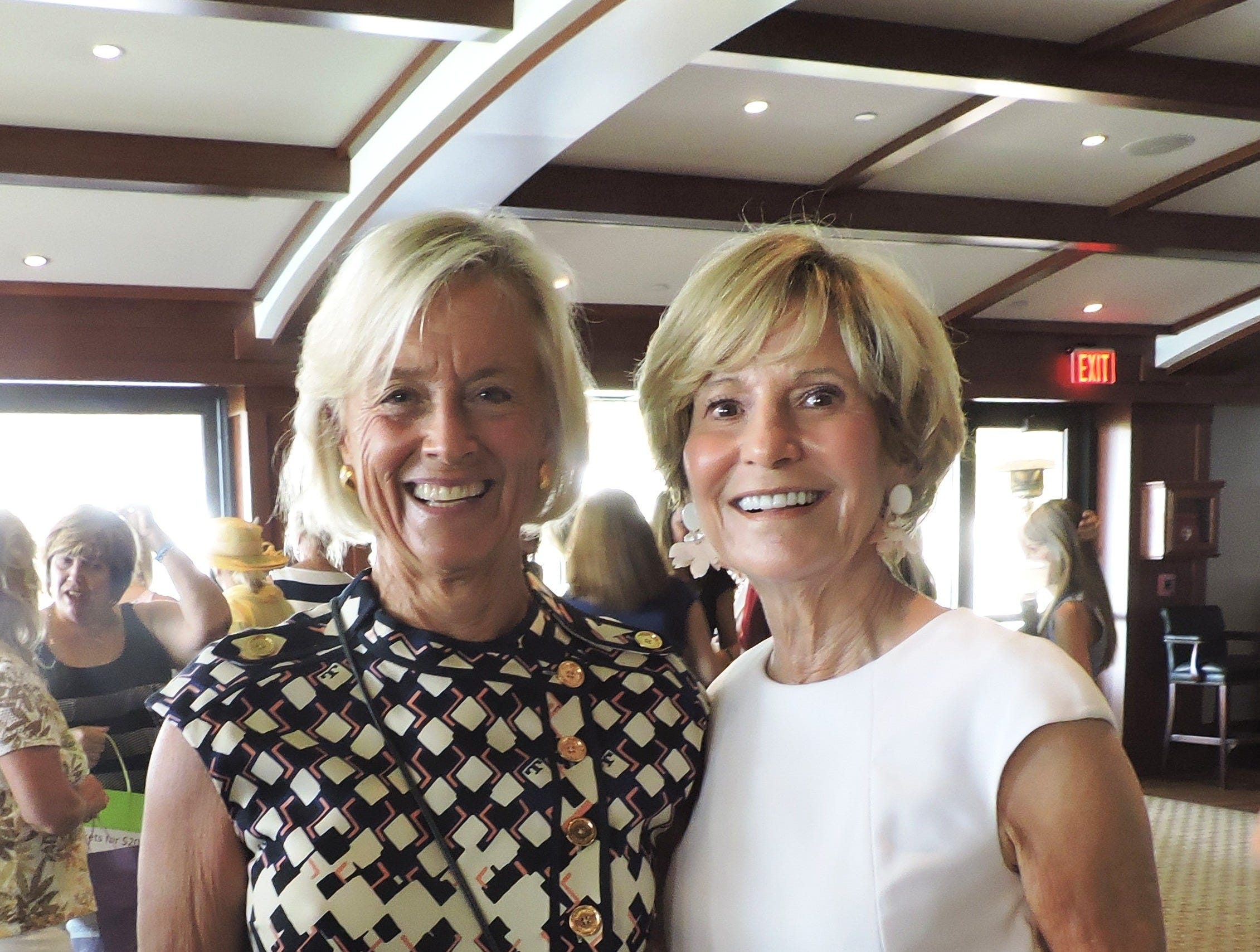 Kathy Adamiak, left, and Pat Noonan  at the 28th annual Jo Covelli Luncheon to benefit Hibiscus Children's Center.
