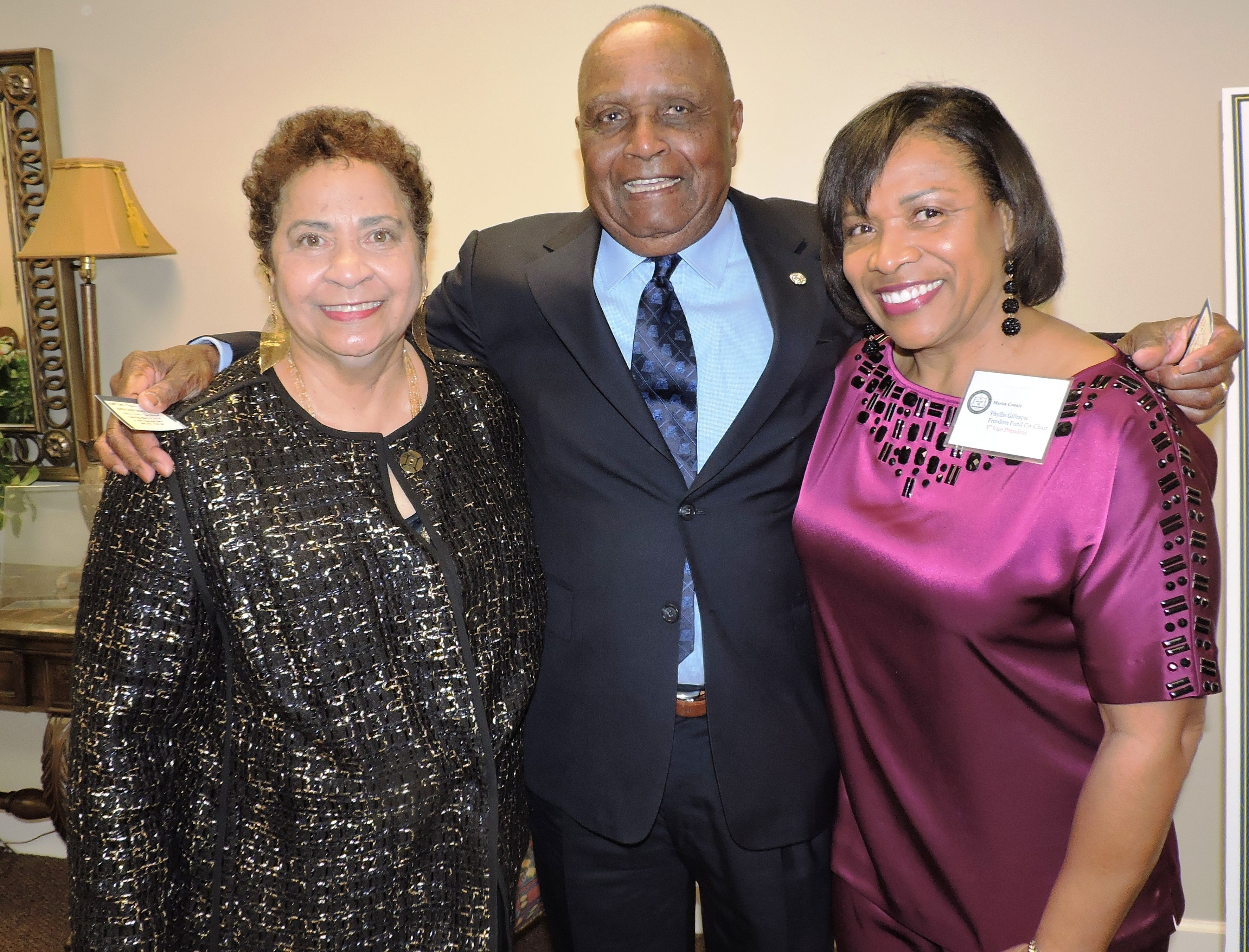 Presidential Award winners Taunya and Bill Bryant, left, and Phyllis Gillespie at the 2019 Freedom Fund Banquet.