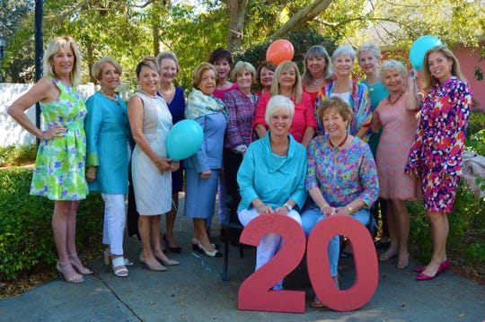 2019 Blue Ribbon Luncheon & Fashion Show committee members, from left, front row, Co-Chairs Diane Wilhelm and Sue Sharpe; back row, Petra King, Mackie Duch, Roni Fuster, Karen Loeffler, Henriette Churney, Kim Seward, Suzanne Bertman, Jan Harrell, Rosemary Smith, Pat Stelz, Jane Jackson, Christine Endres, Elke Fetterolf and Leslie Bergstrom.