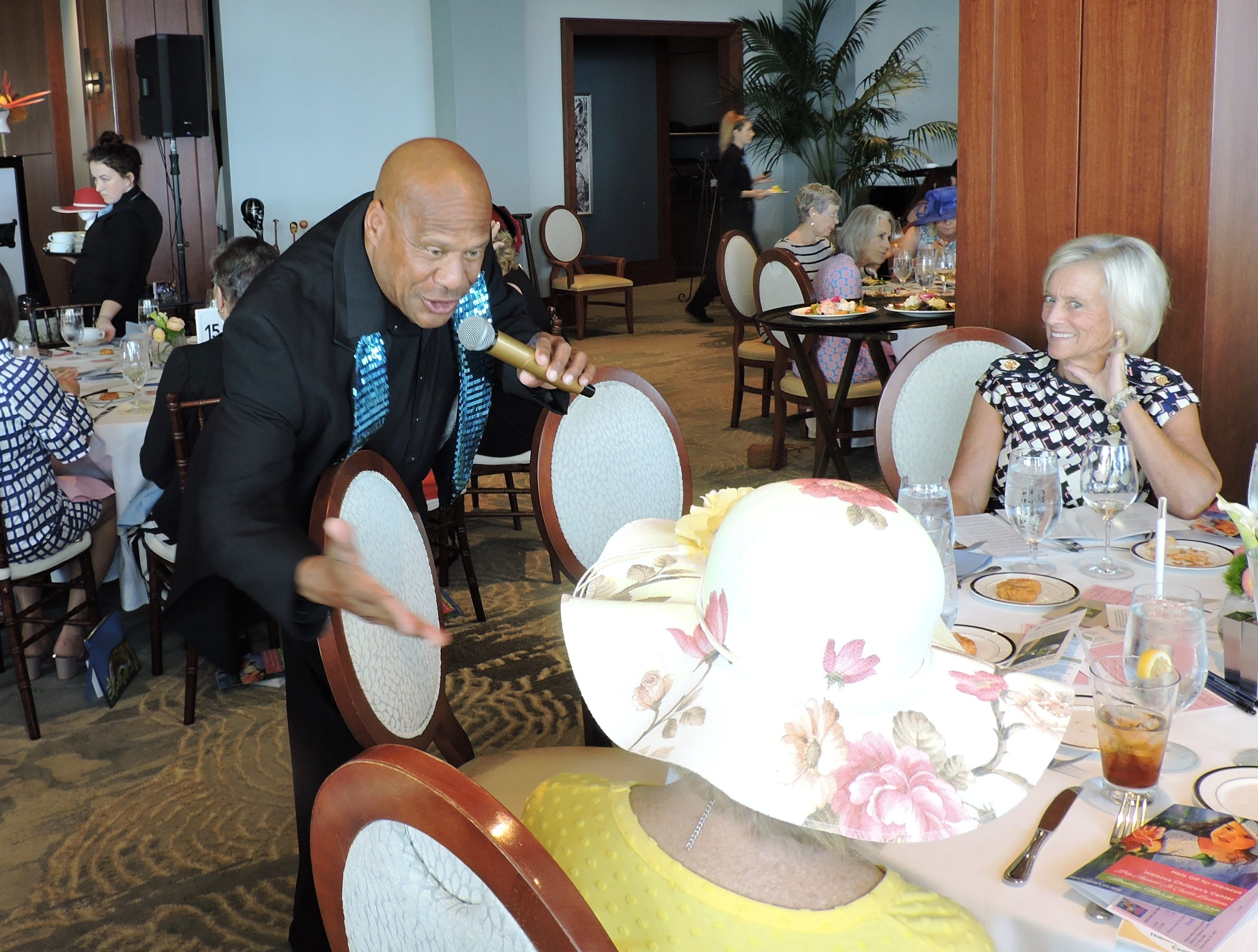 Singer Daryl Magill at the 28th annual Jo Covelli Luncheon to benefit Hibiscus Children's Center.