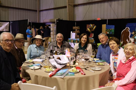Andrew Senchak,left, David Hentschel,Susie Hentschel, Dan Somers,Mary Jane,John Todd,Jane Todd and Barbara Senchak attend the Angels Dinner in support of the Boys & Girls Clubs of Indian River County.