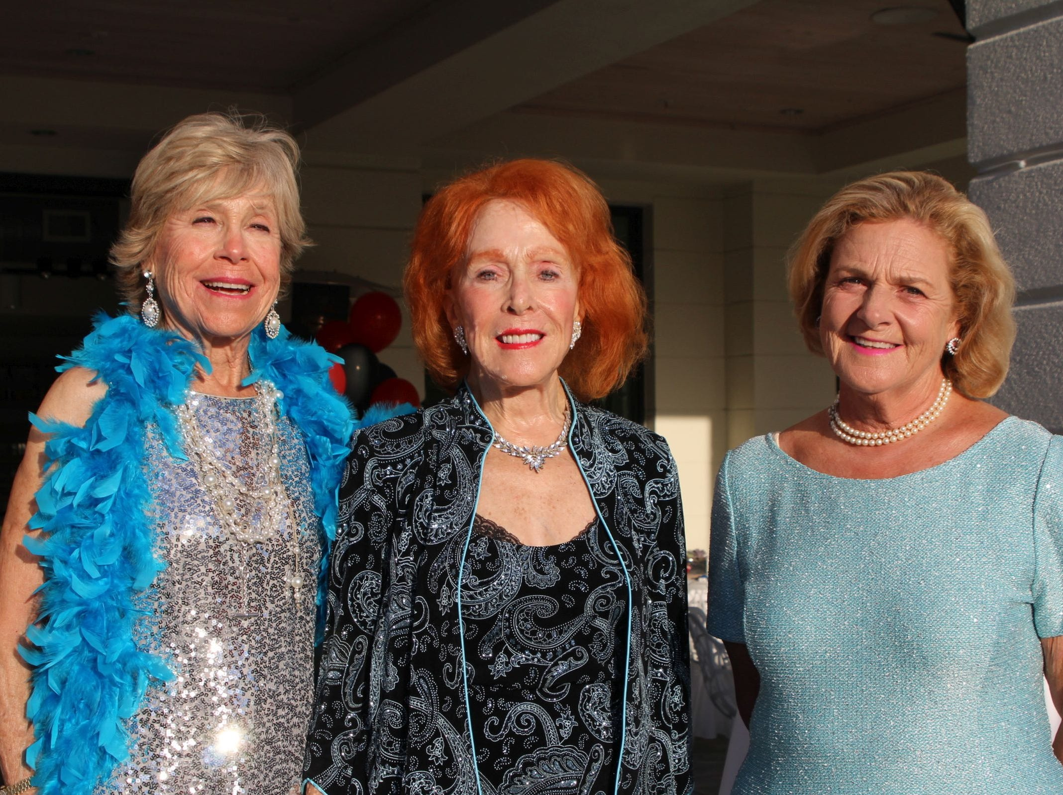 Dee Gordon, left, Barbara Hauptfuhrer and Ellen Mendez-Penate at the John's Island Community Service League's annual gala on March 9.