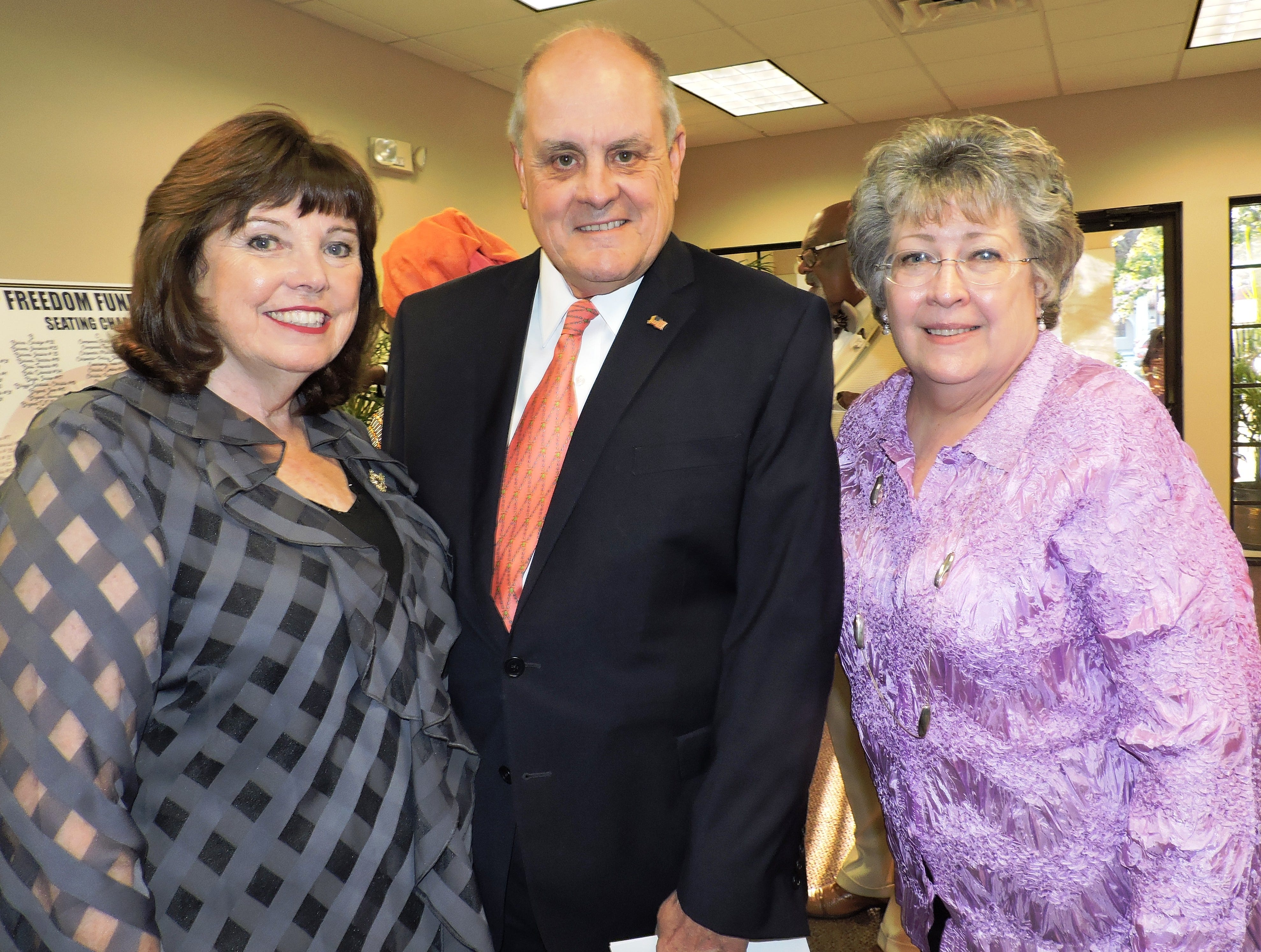 Paula and Paul Nicoletti, left, with Renita Presler at the 2019 Freedom Fund Banquet.
