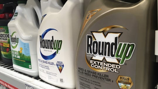 In this Feb. 24 file photo, containers of Roundup are displayed on a store shelf in San Francisco. A jury in federal court in San Francisco has concluded that Roundup weed killer was a substantial factor in a California man's cancer.