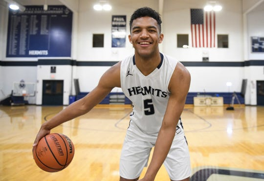 Charles Solomon, a St. Augustine Prep senior, has been chosen as The Daily Journal's boys' basketball Player of the Year.