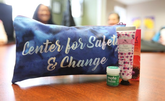 Local artist Marisol Diaz designed a gift pack along with several local companies for a fundraising program at the Center for Safety and Change in New City on Wednesday, March 20, 2019.