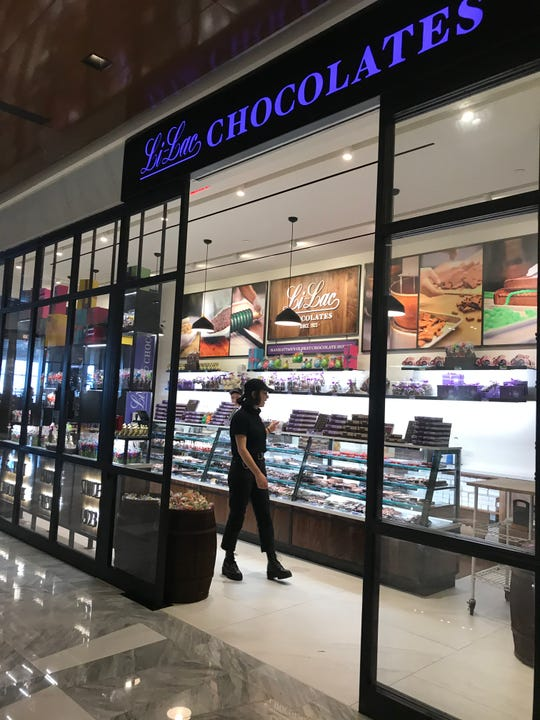 Li-Lac Chocolates is located on Level 4 at The Shops at Hudson Yards. Photographed March 18, 2019.