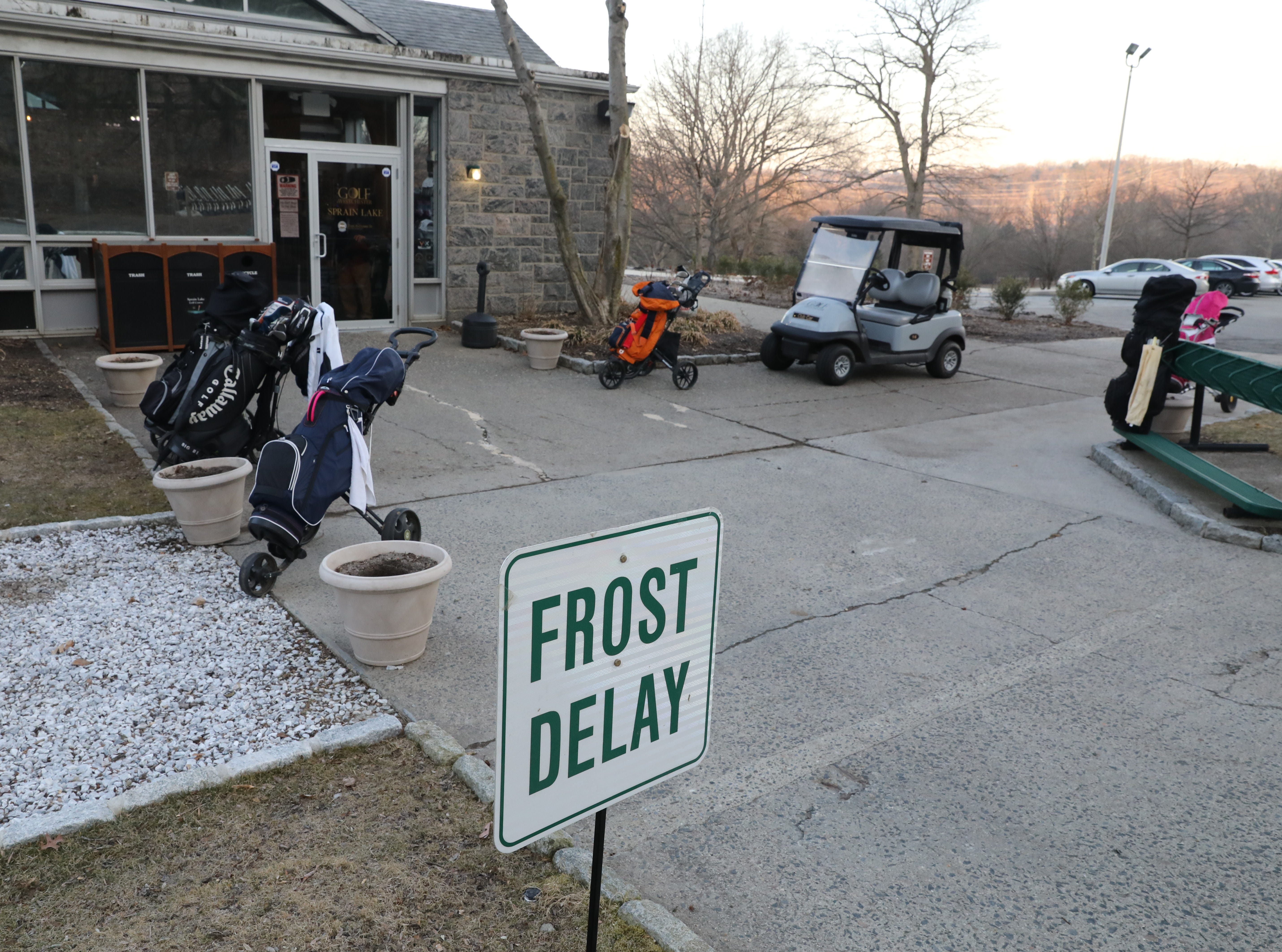 "There was a three hour ""frost delay"" during the opening day of golfing at Sprain Lake Golf Course in Yonkers, March 20, 2019."