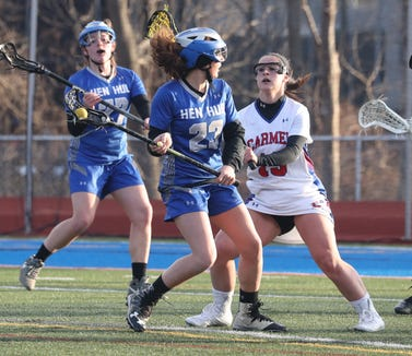 Hen Hud's Kira Varada in action during a game against Carmel on Tuesday, March 19, 2019.