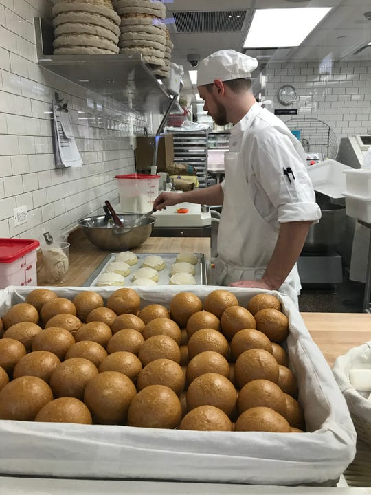 Watching the pastry chef magic happen at Bouchon Bakery at The Shops at Hudson Yards. Photographed March 18, 2019.