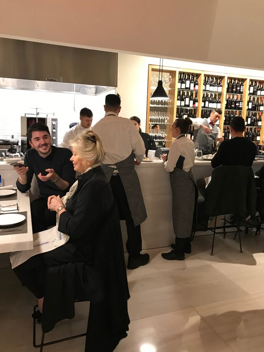 Milos Wine Bar at Hudson Yards. Photographed March 18, 2019.