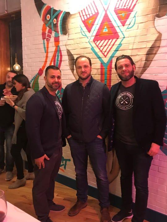 The owner of The Taco Project, left to right: Nick Mesce, Carmelo Milio and Sebastian Aliberti.