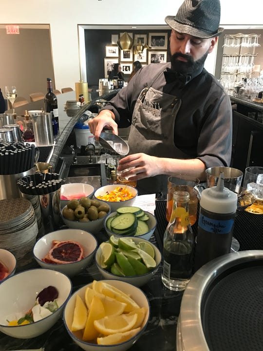 Alfonso Rivera, a bartender at Bar Stanley inside Neiman Marcus at The Shops at Hudson Yards. Photographed March 18, 2019.