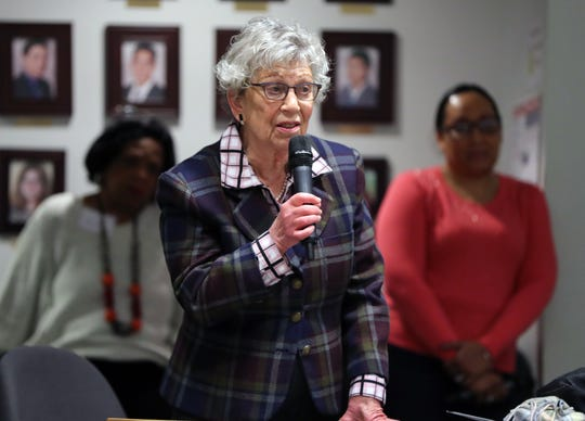 County legislator Harriet Cornell speaks during the Interfaith Symposium held at Rockland Community College March 20, 2019.