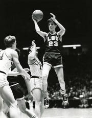Unknown date; Lexington, KY, USA; FILE PHOTO; LSU Tigers guard Pete Maravich (23) in action against the Kentucky Wildcats at Rupp Arena. Mandatory Credit: Malcolm Emmons- USA TODAY Sports