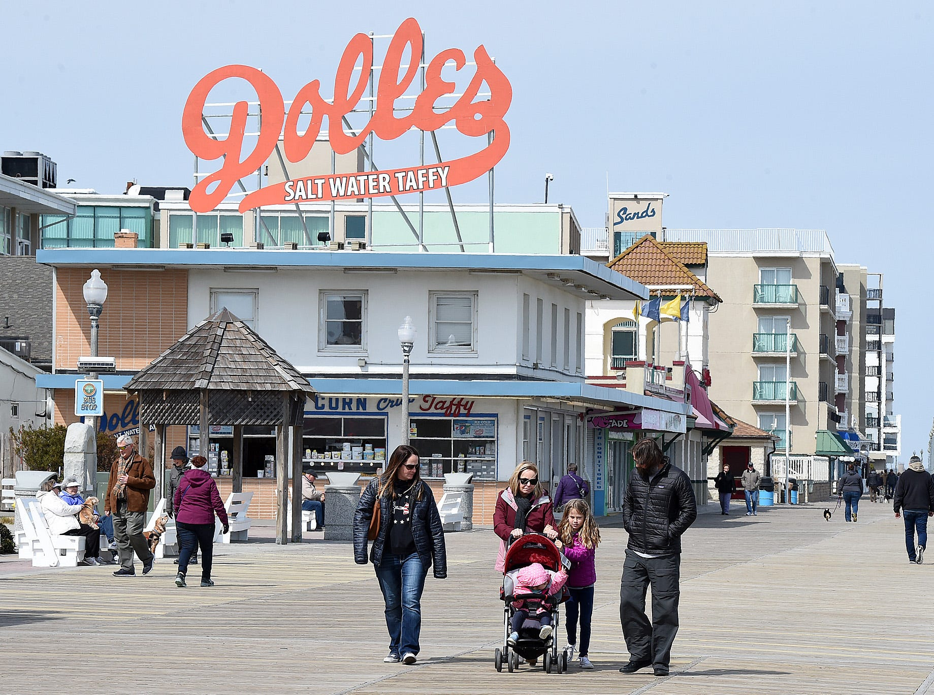The first day of spring had cooler temperatures at Rehoboth Beach Wednesday, but some did venture out to enjoy the outdoors.