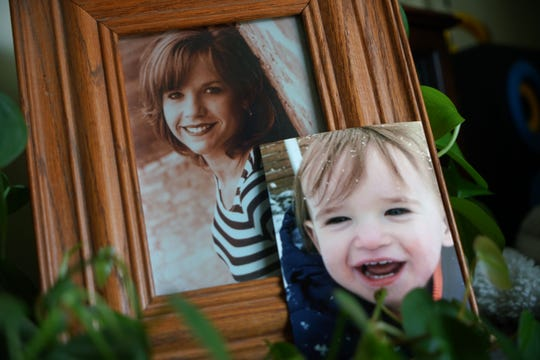 Family photographs of Laura Connell and her 18-month-old son Walton.