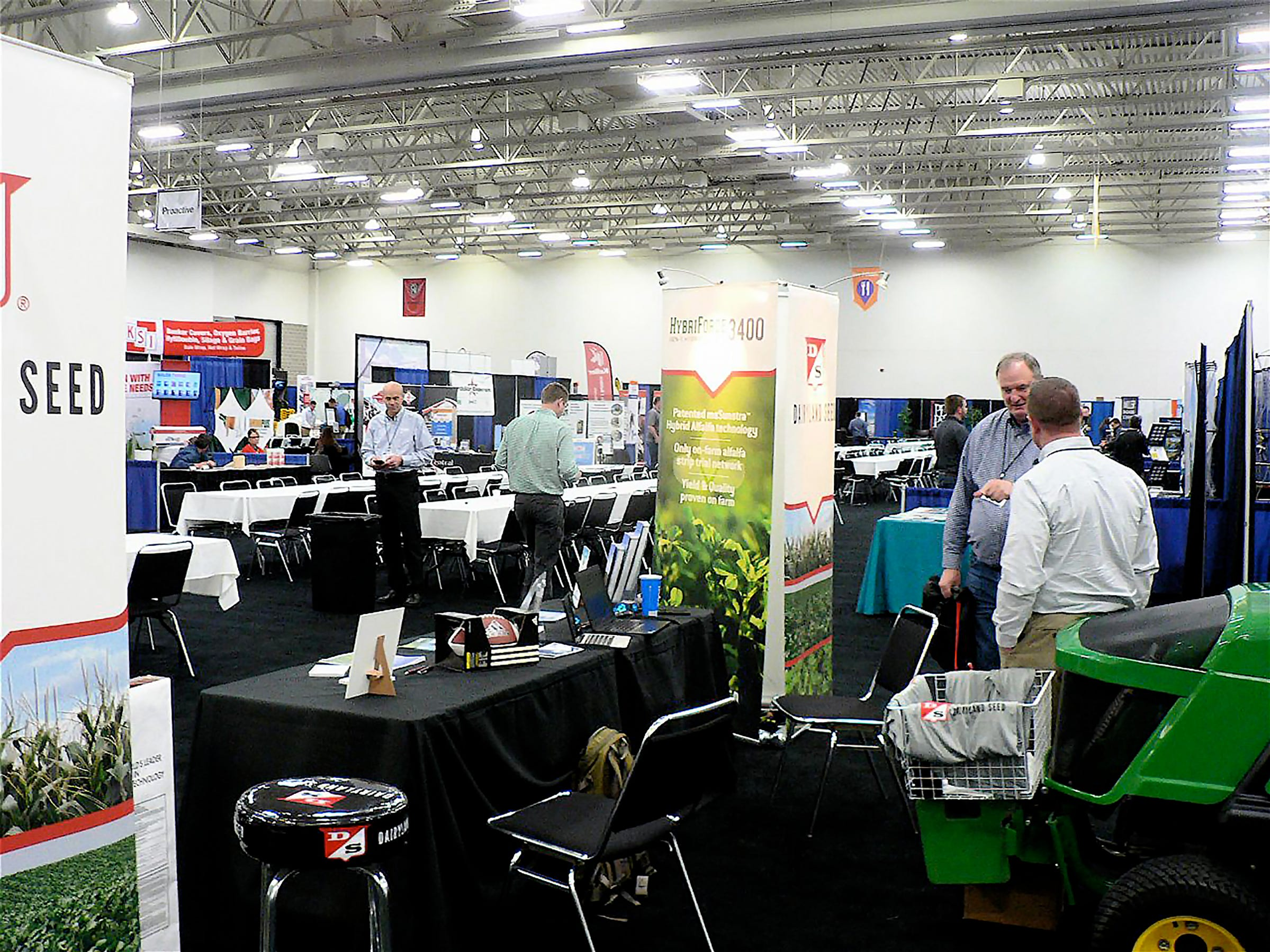 Many exhibitors did not expect to sell much but came to support the dairy industry. There were nearly 160 commercial exhibits in the Hall of Ideas.