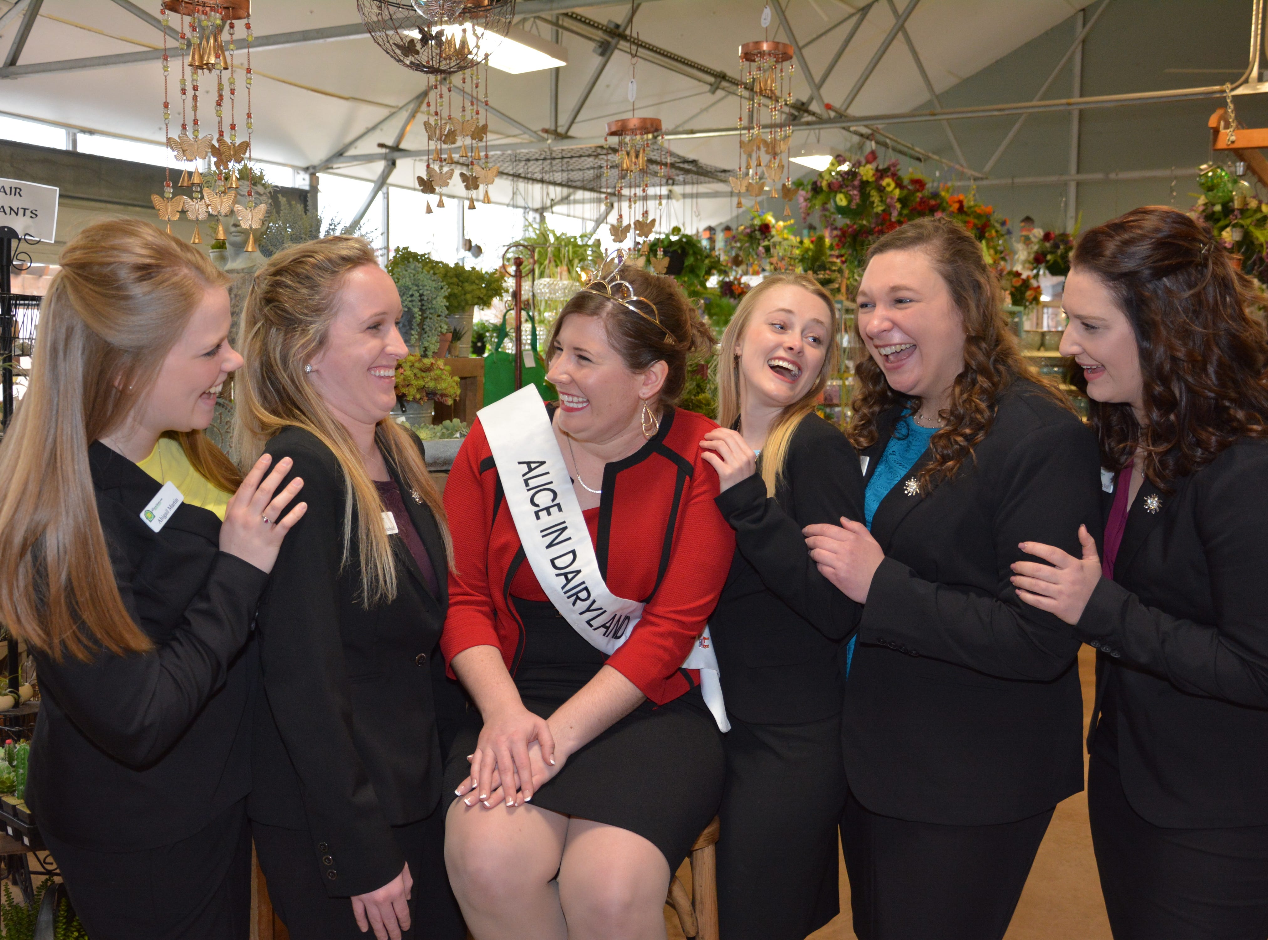 Sharing a laugh inside of Brenda's Blumenladen in downtown New Glarus