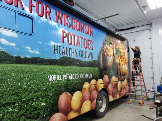 Darci Laudenbach of CC Graphics in Wisconsin Rapids designed, printed and installed the new wrap.