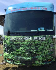 Wearing its original wrap, the WIsconsin Spudmobile hit the road in 2014 and provides a farm to fork educational experiences for those who enter.