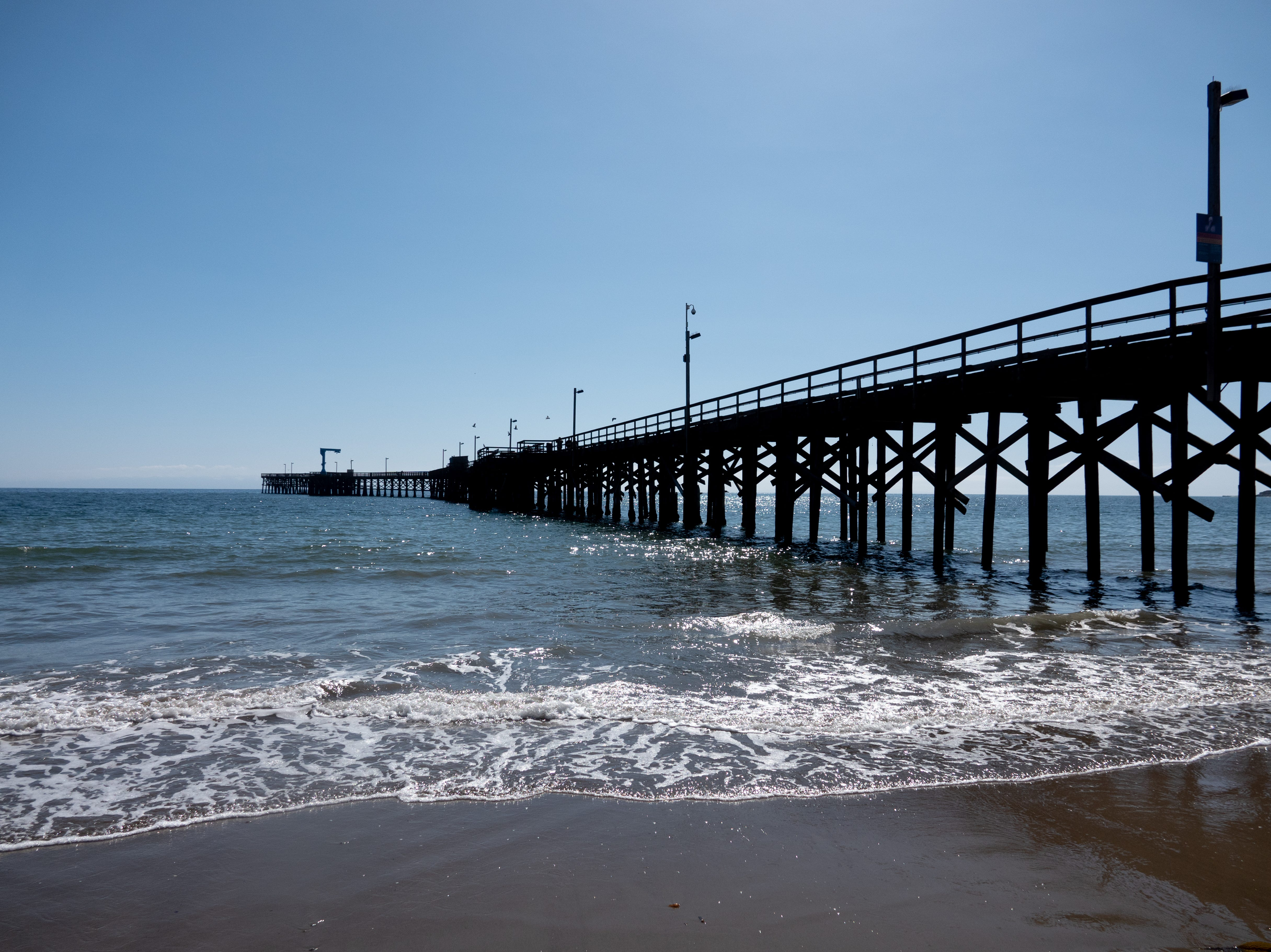 A pier in Goleta, California, just up the road from Santa Barbara.