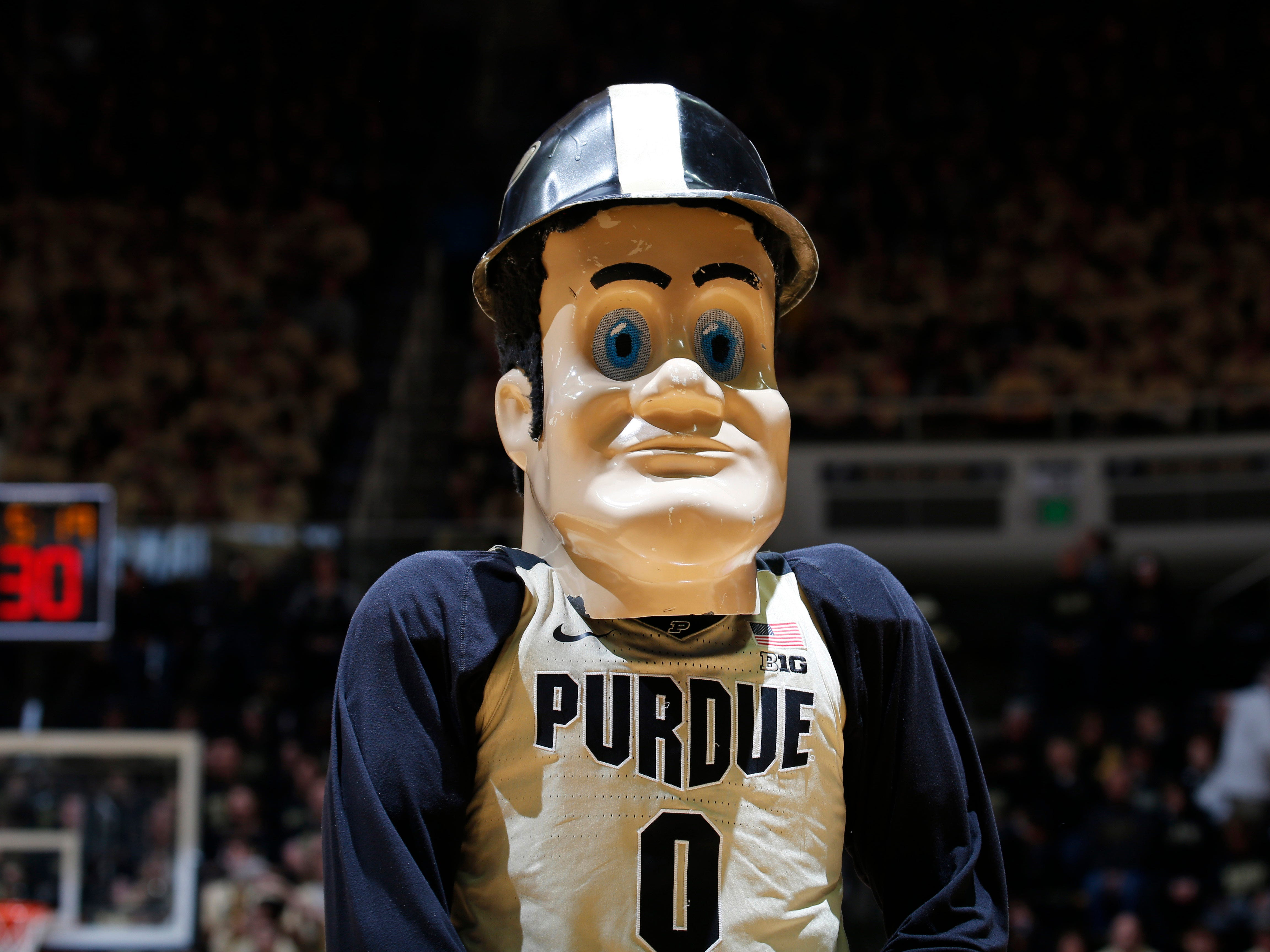 Purdue Boilermakers mascot Purdue Pete has a set of eyes that'll send a shiver down your spine.