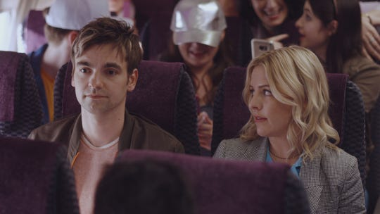 """Siblings Cary (Drew Tarver, left) and Brooke Dubek (Helene Yorke) are in for an emotional ride in the ninth episode of Comedy Central's """"The Other Two."""""""