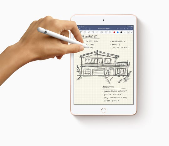The new iPad min supports the first generation Apple Pencil.