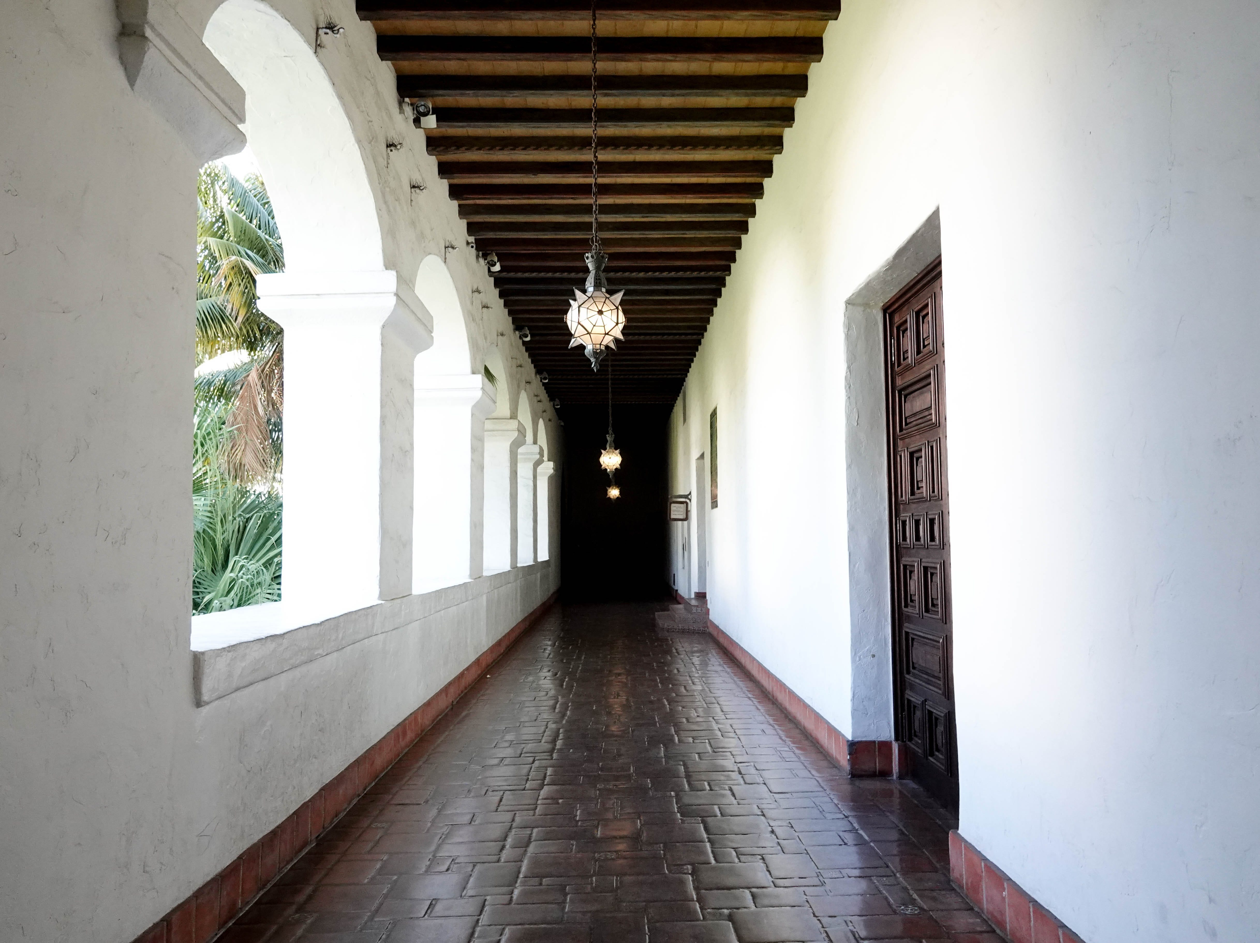 Walkway at the Santa Barbara County Courthouse.