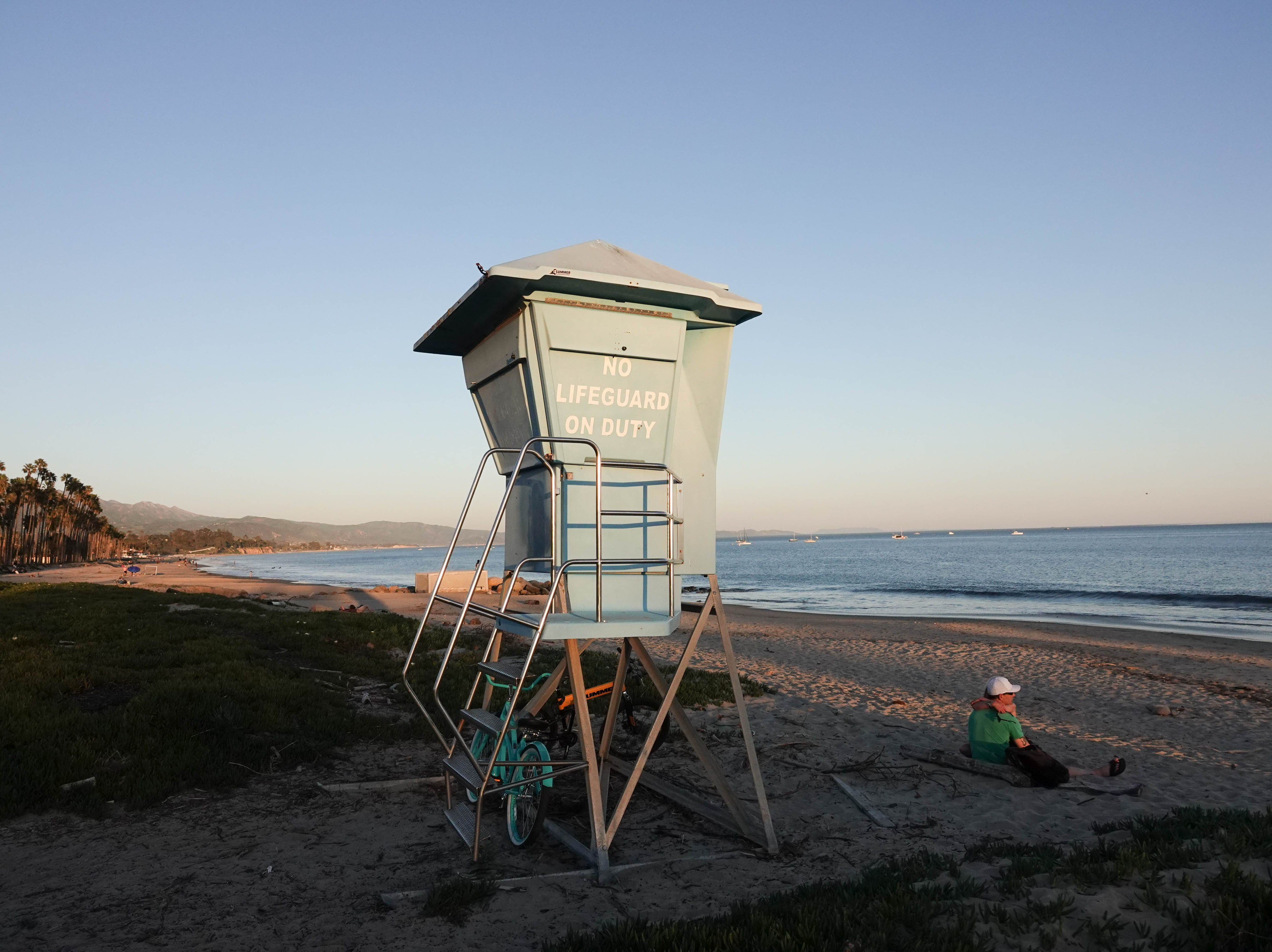 Lifeguard stand in Santa Barbara.