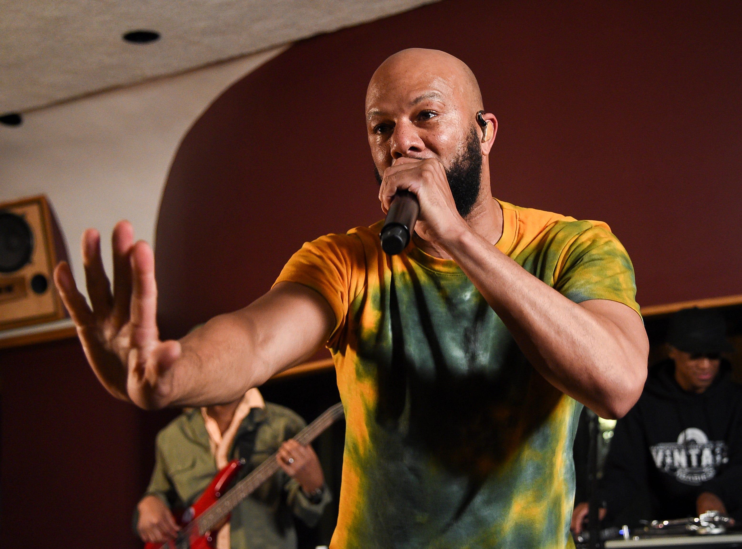 Common participates in the Woodstock 50 lineup announcement at Electric Lady Studios on Tuesday, March 19, 2019, in New York. (Photo by Evan Agostini/Invision/AP) ORG XMIT: NYEA114