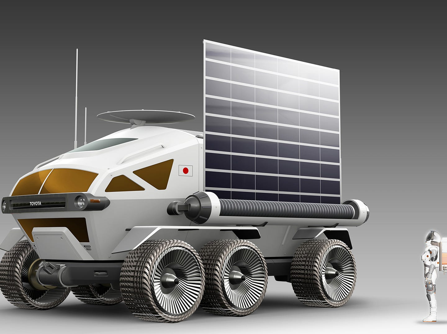 Toyota and JAXA have been jointly studying the concept of a manned, pressurized rover since May 2018.