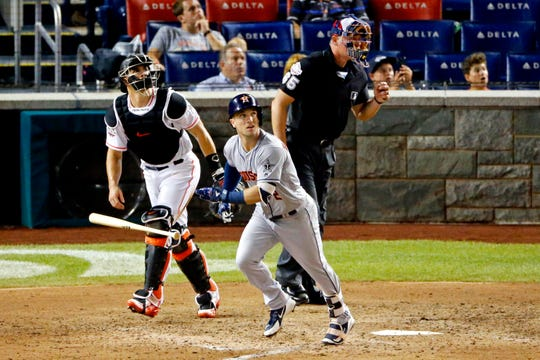 Alex Bregman hits the go-ahead home run in the tenth inning as the American League won the 2018 All-Star Game 8-6. Bregman was named the game's MVP.