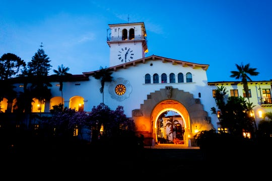 The Santa Barbara county courthouse, shot in early morning.