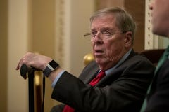 Georgia Sen. Johnny Isakson is blasting President Donald Trump for his criticism of John McCain seven months after the senator's death. He made the remarks on Georgia Public Broadcasting's Political Rewind radio show hosted by Bill Nigut. (March 20)