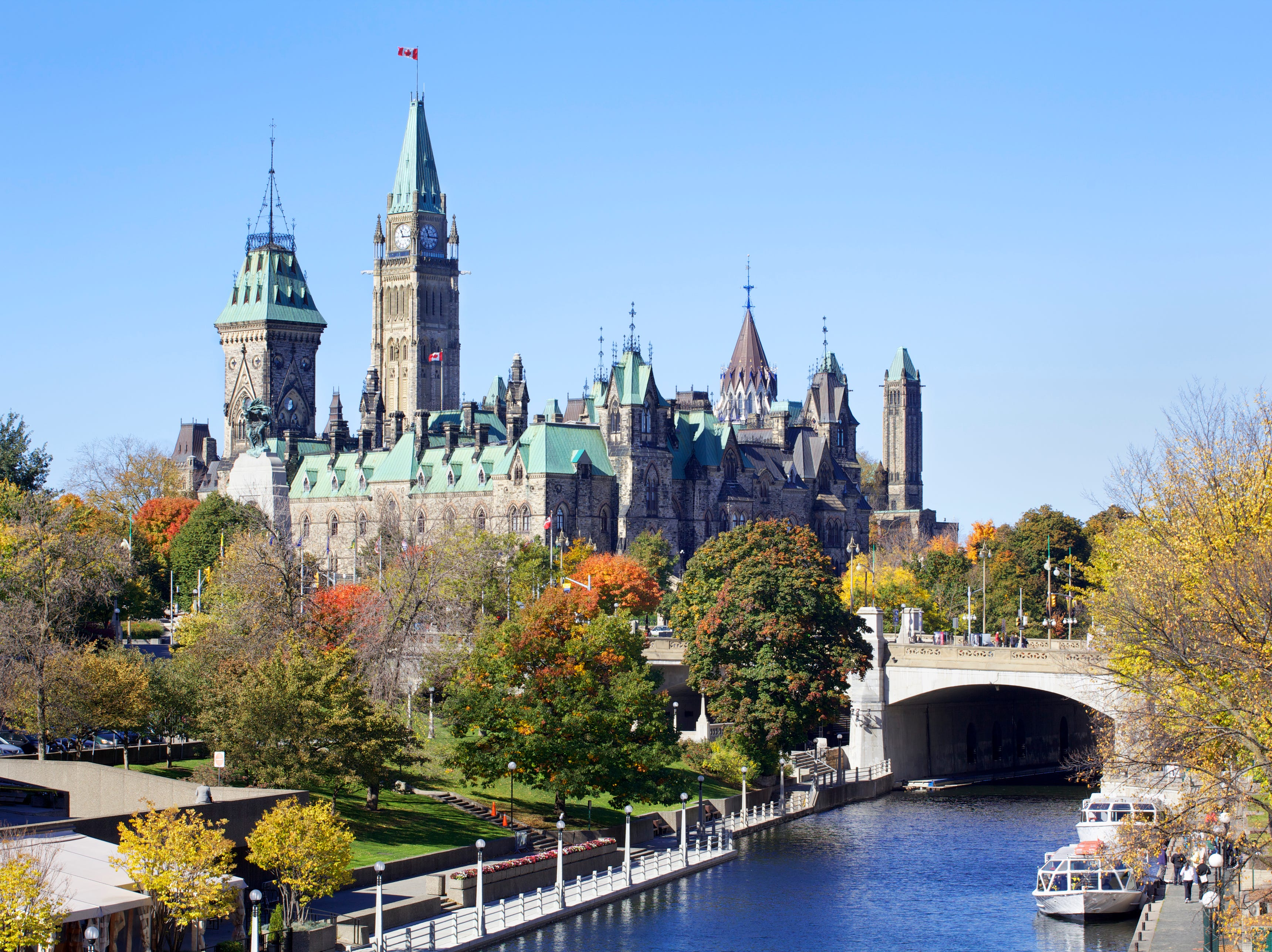 Canadian Parliament and Rideau Canal (XXXLarge)