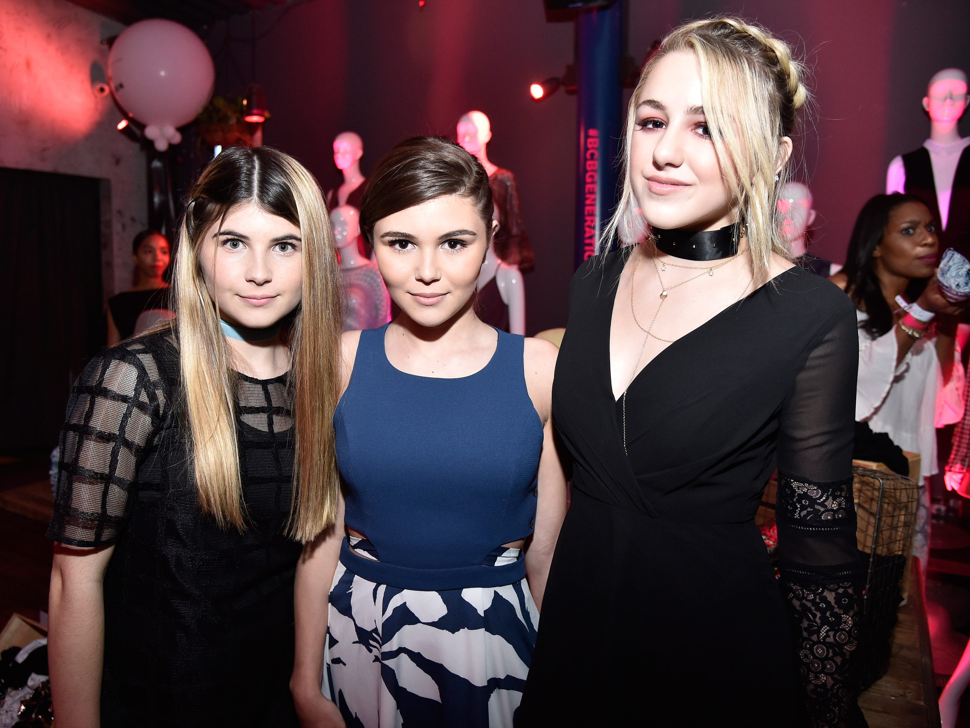 Bella Giannulli, left, Olivia Giannulli and Chloe Lukasiak, right, attend NYLON Young Hollywood Party, presented by BCBGeneration at HYDE Sunset: Kitchen + Cocktails on May 12, 2016, in West Hollywood, Calif.