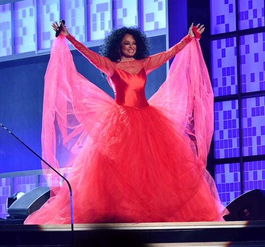 Diana Ross appears during a tribute segment during the 61st Annual GRAMMY Awards on Feb. 10, 2019, at STAPLES Center in Los Angeles.