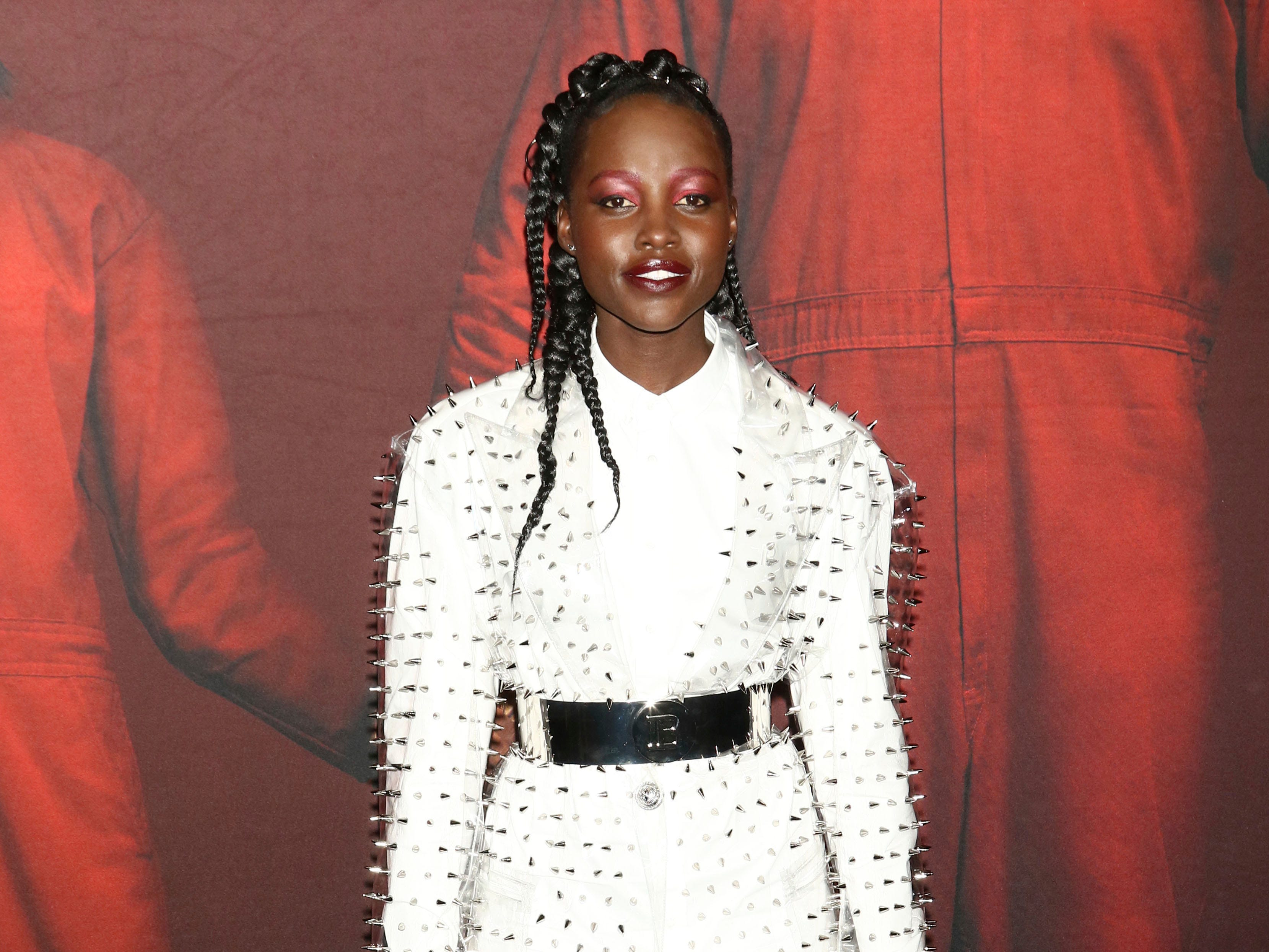"Lupita Nyong'o attends the premiere of ""Us"" at the Museum of Modern Art on Tuesday, March 19, 2019, in New York. (Photo by Greg Allen/Invision/AP) ORG XMIT: NYGA102"